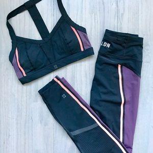 Sweaty Beady London sports bra & leggings set
